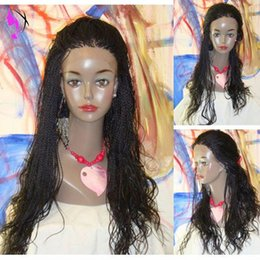 $enCountryForm.capitalKeyWord NZ - 30inches long Kinky Twist synthetic Lace Front Wig Natural Afro Fully micro braids wig African Synthetic Braid For Afro Women