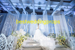 Curtains styles designs online shopping - New style cm long Polyester polyester curtain Wedding Stage Backdrop Design Decoration Stand best0358
