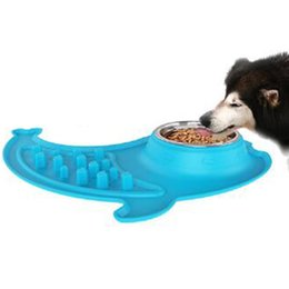 $enCountryForm.capitalKeyWord NZ - Large Size Mermaid Silicone Dog Bowl Slow Eating Feeder Anti Choke Puppy Cat Dog Food Bowl Feed Dish Food Prevent Pet Supplies