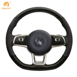 $enCountryForm.capitalKeyWord NZ - MEWANT Black PU Carbon Fiber Suede Steering Wheel Cover for Volkswagen Golf 7 GTI Golf R MK7 VW Polo GTI Scirocco 2015 2016