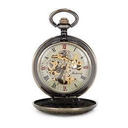 $enCountryForm.capitalKeyWord UK - SHUHANG Top Brand Luxury Steampunk Skeleton Mechanical Pocket Watches For Men Vintage Bronze Mechanical Pocket Watch W Chain