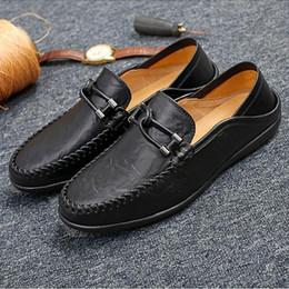 $enCountryForm.capitalKeyWord Canada - New to black TOP leather men's wedding shoes business casual pointed leatherT trendy leather casual shoes sheetmetal flats big size 38-47c12