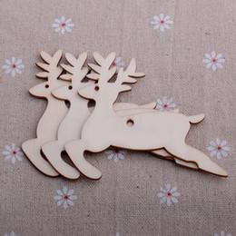 Gift Craft Christmas Ornament Australia - New 10 pcs Lot Hot Christmas Tree Ornaments Wood Chip Snowman Tree Deer Socks Hanging Pendant Christmas Decoration Xmas Gift Crafts