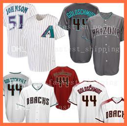 Baseball Arizona Canada - 2018 new Baseball Jerseys Men's Adult Arizona 44 Paul Goldschmidt Embroidery Logos 100% Stitched Free Shipping