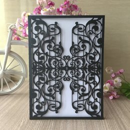20pcs Lot Personalized Laser Cut Invitations Card Wedding Decorations Birthday Greeting Festive Party Supplies