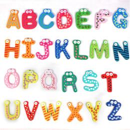 $enCountryForm.capitalKeyWord NZ - 26pcs Wooden Letter Fridge Sticker Magnet Education Early Learn Kid Baby Toy Home Decor Refrigerator Message Board Big Size 6cm
