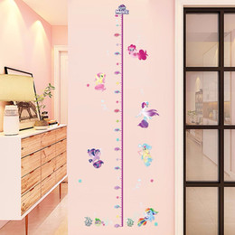 Wholesale New Cartoon My Little Horse Height Measure Sticker Kids Growth Chart Decal Girl Boy Bedroom Decor Mural Baby Height Stadiometers