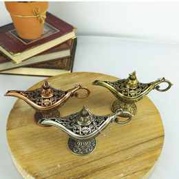 Discount fairy photography props - Classic Fairy Tale Aladdins Magic Lamp Tea Pot Genie Lamps European Style For Photography Prop Home Decoration