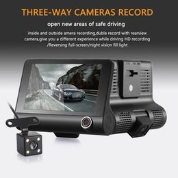New Professional Camcorders NZ - New arrival H103 4 Inch Full HD 1080P Car DVR Dash Cam Camera Three Lens Camcorder Support G-sensor Motion Detection Loop Recording