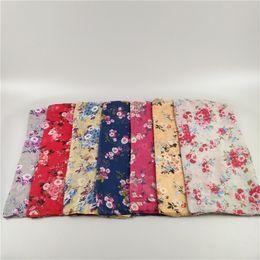 Scarf Viscose Printed Australia - New Ncute flower printed viscose scarf muslim shawl hijab lady summer echarpe headband turban beach towel scarf 10pcs lot