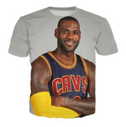 8f0fa51b8d59 Hot sale Men Women T-shirts star Lebron James 3D Print fashion T Shirt 2017  summer style casual Tee Shirts J06