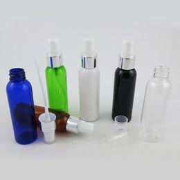 amber glass perfume atomizer 2019 - 50 x 60ml Green Clear Amber Blue Black PET Plastic Bottle Atomizer Perfume Mist Spray 2oz Pet Cosmetic Parfum Sprayer Bo