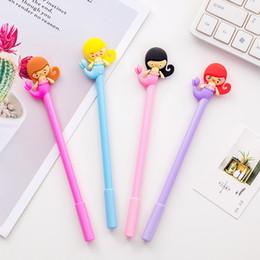 $enCountryForm.capitalKeyWord Australia - 24 Pcs Lot Kawaii Pens Mermaid Gel Ink Pen 0.5mm Roller Ball Pen Black Color Pens Kids Gift Stationery Office School Supplies