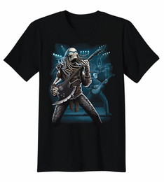 $enCountryForm.capitalKeyWord UK - Fashion T Shirts Slim Fit Broadcloth Predator Skull Band Playing Guitar Rock Roll Music T-Shirt Tee Short O-Neck T Shirt For Men