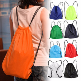 448efdb6f7d1 39 33.5cm Premium School Drawstring Duffle Bag Sports Gym Swim Dance Shoe Waterproof  Backpack Travel String Bag carry handles