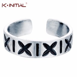 $enCountryForm.capitalKeyWord Canada - Kinitial Silver Letter X Knuckle Midi Mid Pinkie Finger Ring Plain Simple Cute Open Men Retro Ring Body Jewelry For Women