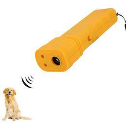China Free shipping bark control electronic dog repeller ultrasonic Black Aggressive anti Dog Pet banish Repeller Train Stop Barking Training suppliers