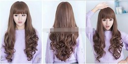 long wavy sexy brown hair UK - Free shipping++++Promation Fashion Stylish Womens Sexy Long Wavy Full Hair Wig Curly Brown Wig