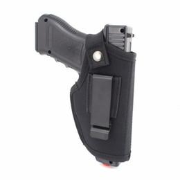 Vente en gros Étui de pistolet en nylon EDC avec ceinture à pince en métal Ceinture dissimulée à l'intérieur ou à l'extérieur pour la main gauche réglable, convient à la plupart des armes de poing