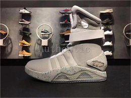 Glow dark boxes online shopping - Limited Edition Air Mag Back To The Future Glow In The Dark Gray Sneakers Marty McFly LED Shoes Black Mag Marty McFlys Boots with Box