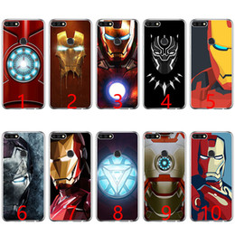 pink hero brand 2019 - Marvel Avengers Heroes Soft Silicone Phone Case for Huawei P8 P9 Lite 2015 2016 2017 P10 20 Lite P Smart discount pink h