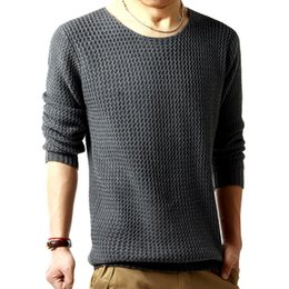 $enCountryForm.capitalKeyWord NZ - Casual O-Neck Knitted Pullover Woolen Sweater Men Solid Knitted Pullover Slim Men Clothes 2018
