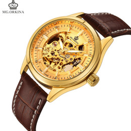 $enCountryForm.capitalKeyWord UK - Montre Homme New Fashion 2018 Men Watches Skeleton Automatic Mechanical Gold Watches For Men Top Brand Luxury MG ORKINA