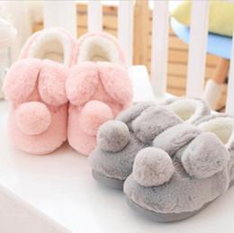 Vente en gros Pantoufles de coton chaud pied d'hiver femme chaussettes mignonnes fond épais hiver maison intérieure plus pantoufles de velours slip