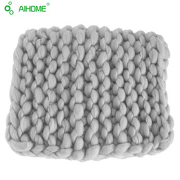 $enCountryForm.capitalKeyWord NZ - Children's knitted blankets Wool thick line Cotton covered Use for travel nap sofa decorative Photography props blanket