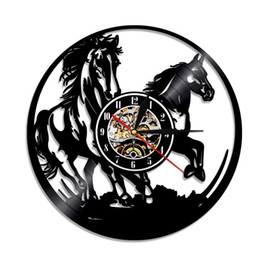 a89f45514c9 diy gift for Animals Horse Vinyl Record Clock Wall Art Home Decor hanging  For new design