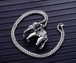 colgante de collar de elefante africano de acero inoxidable caliente por  tendencia de moda colgante de los hombres europeos y americanos f347af91fcc