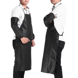 Leather briefs for men online shopping - Brief Leather Apron Faux Leather Chef Apron Waterproof Restaurant Cooking Bib Sleeveless Apron Cuff Unisex For Men Household Tools