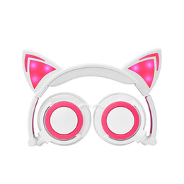 $enCountryForm.capitalKeyWord Canada - Hot style new children cartoon cat ear head wear light folding phone music earphone affordable price specific price please consult