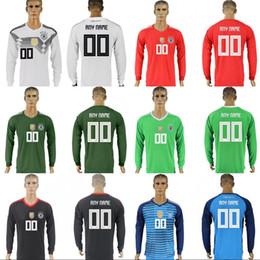 34d19b9d4 Germany Long Sleeve Jersey 10 OZIL 5 HUMMELS 8 KROOS 11 WERNER 13 MULLER 7 DRAXLER  19 GOTZE 17 BOATENG 2018 World Cup Soccer Jerseys
