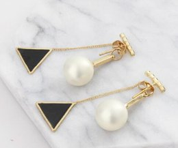 delta alloys Australia - free shipping South Korean pop lady pearl delta tassel multi-color earrings pearl earring studs back pendant fashion classic exquisite