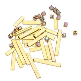 $enCountryForm.capitalKeyWord UK - Nail Art Rhinestone Mix Size Crystal Jewelry Gold Bar Colored Nail Rhinestones For Nails Art 3D Decorations