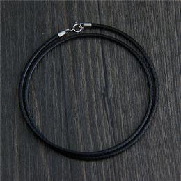 $enCountryForm.capitalKeyWord NZ - designer jewelry vintage 925 sterling silver Rope Chain buckle necklace lasheng black wild jade pendant rope chain bulk 40 45 50 55 60cm