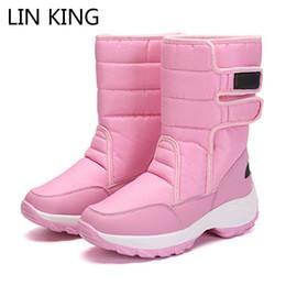 $enCountryForm.capitalKeyWord NZ - LIN KING Plus Size Women Snow Boots Waterproof Winter Mid-Calf Boots Warm Fur Cotton Paddes Shoes Anti Slip Wedge Platform Shoes