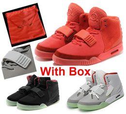 outlet store 9dff8 7b011 2018 Kanye West 2 II SP Rot Oktober Sport Basketballschuhe Mit Paketen Mit  Staubbeutel Herren Sneakers Glow Dark Octobers