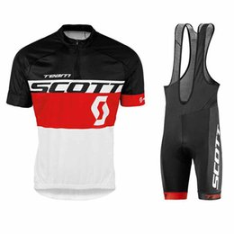 scott bike wear NZ - New 2018 Scott cycling jersey bike shorts set Tour De France Ropa Ciclismo quick dry mens pro cycling wear bicycle Maillot Culotte 82023Y