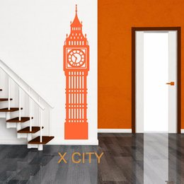 CloCk abstraCt online shopping - BIG BEN LONDON CLOCK UK Landmark Scenery Wall Sticker Vinyl Art Window Decal Door Stencil Room Decoration