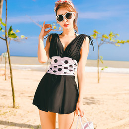 Wholesale xxl bathing suits for women online – V Neck One Piece Swimsuits For Women Girls Beach Bathing Suits High Waist Hollow Sexy Thong Swim Suits