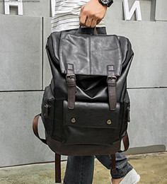 high quality backpack brands Australia - Wholesale brand high-quality male package Korean mens casual backpack large color flip man backpack leisure travel Leather Backpack