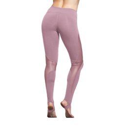 Discount sexy yoga pants for women - Women Yoga Compression Pants Mesh Insert Stirrup Leggings Pants Elastic Tights Sexy Yoga Capri for Workout Gym Jogging