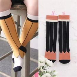 1bfea1bc9 Hot Sale Kids socks children pencil pattern socks Baby girls cotton knee  length socks Spring sweet kids stripe sock boys stockings