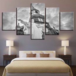 $enCountryForm.capitalKeyWord Canada - Canvas Paintings Living Room Wall Art Framework 5 Pieces Christ Jesus Church Pictures HD Prints Christianity Posters Home Decor