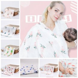 Infant stroller cover online shopping - 18 design Muslin Bamboo Cotton Baby Swaddles Soft Newborn Blankets Bath Infant Wrap Sleepsack Stroller Cover Play Mat cm KKA5746