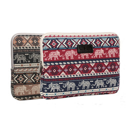 Waterproof laptop china online shopping - Laptop Sleeve Inch elephant Prints waterproof shockproof Canvas handbag Bags Cover Protective Case for ipad mini air kindle LS