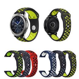 Nouveau bracelet de montre en silicone, bracelet sportif 22 mm pour Samsung Gear S3 Classic / Frontier en Solde