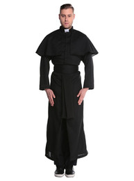 Chinese  Medieval Costume Renaissance Monk Priest Clothing Men God Father Missionary Robes Clothes Halloween Party Nun Costume Sets manufacturers